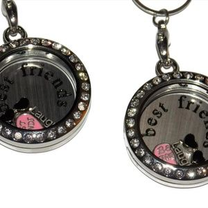Jewelry - Set of 2 Best Friends Floating Locket Necklaces